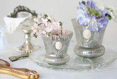 Silver lovelies with flowers