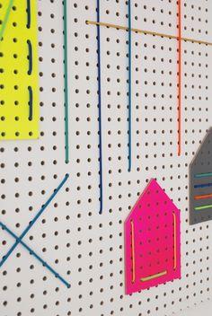 DIY craft studio memo board