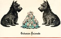 Christmas Card Between Friends by TheReimaginedPast on Etsy, $5.75
