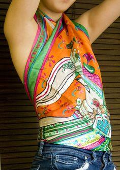 Pour mettre, porter et transformer un foulard en top et avoir du style en été. Des conseils de mode pour les femmes qui aiment suivre les tendances.