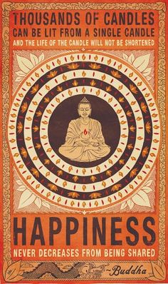 happiness   does not decrease   from being shared