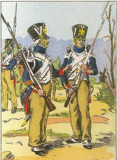 French; Imperial Guard, Fusilier Grenadiers, Corporal & Fusilier, Prussian Campaign, 1807