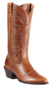 Ariat® Ladies Magnolia Vintage Caramel Heritage R-Toe Traditional Toe Western Boots | Cavender's