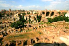 Roman Forum tilt-shift fake