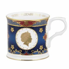 Coronation Mugs - Coronation Commemoratives Queen E, Royal Tea, Worcester, China Porcelain, Royals, Tea Cups, Anniversary, Ceramics, Dishes