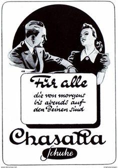 Original-Werbung/ Anzeige 1942 - CHASATTA SCHUHE - Ca. 45 X 60 Mm - Werbung