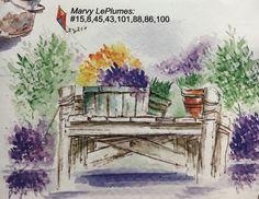 art impressions - watercolor - markers - catalog photo - summer dock - M-2731, E-3021, AA-1729, AA-1366, F-2055, AA-2424, AA1370,
