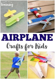 These airplane crafts for kids are so much fun for learning about flight and spending time together as a family!