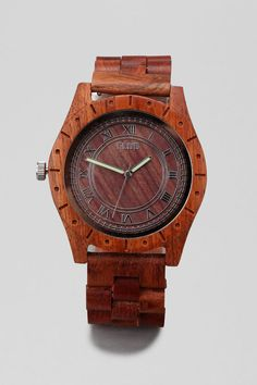 Wood Watch from Urban Outfitters! Too bad its a men's watch and probably way too huge! Pretty awesome anyways!