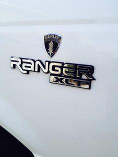 Berlin Brigade Airborne Ranger chrome car emblem