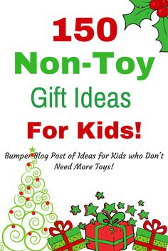 Looking for non toy gift ideas this Christmas for Kids? We have 150 great ideas for children, young, old, boy or girl. Creative, alternative non toy ideas! Christmas Gifts For Kids, Christmas Activities, All Things Christmas, Holiday Gifts, Christmas Crafts, Christmas Ideas, Kid Activities, Homemade Christmas, Christmas Time
