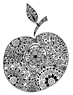 For Art In The Round Project Apple ArtAdult Coloring PagesColoring