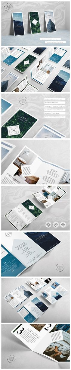 MILESTONE Trifold Brochure by Paperwhite Studio on @creativemarket