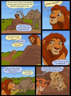 The First King, page 39 by HydraCarina on DeviantArt The Lion King 1994, Lion King 2, Disney Lion King, Lion King Story, Lion King Fan Art, King Art, Lion King Dialogue, Beautiful Creatures, Animals Beautiful
