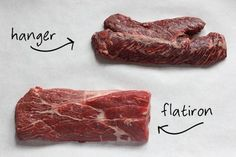 What's the difference between skirt steak, flank steak, and hanger steak? this article explains it very well...