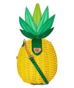 Betsey Johnson® Yellow Pineapple Crossbody Bag | zulily