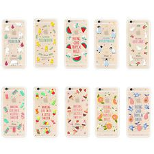Transparent Cartoon fruit Soft TPU Case Cover For Apple iPhone 5S/6/6S 6/6s PLUS