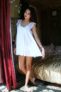 f23b0be4a1732 Baby Doll Nightgown In The Shadows Of Moonlight Bridal Sleepwear Lingerie  Wedding Honeymoon Gown