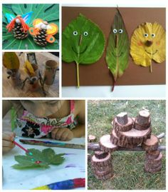 Nature Crafts for Kids - get creative outside this week!