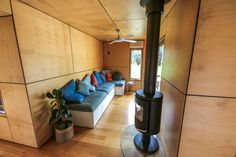 3 x Shipping Containers Turn Into Amazing Compact Home 20ft Shipping Container, 20ft Container, Shipping Containers, Cladding Panels, Exterior Cladding, Plywood Interior, Home By, Container Architecture, Small Space Design