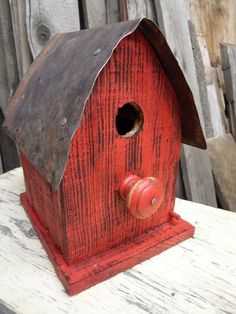 Small barn birdhouse  Made with reclaimed wood by LynxCreekDesigns, $45.00 #woodenbirdhouses #birdhouses