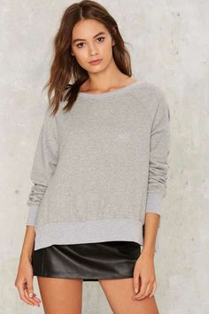 Nasty Gal Wear and Tear Slit Sweatshirt