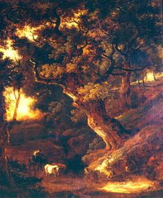 Landscape with cows and human figure - Thomas Gainsborough