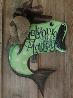 Bass fish ornament