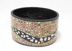 Bangle with faux mother of pearl inlay tutorial by jewelry & polymer clay tutorial heaven