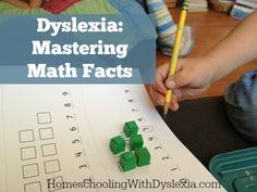Dyslexia: Mastering Math - Homeschooling with Dyslexia Math Dyslexia, Dyslexia Strategies, Dyslexia Teaching, Teaching Math, Dysgraphia, Dyslexia Activities, Teaching Tools, Learning Activities, Teacher Resources