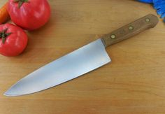 "Chicago Cutlery Walnut Handle Stainless Steel Kitchen Knife - 42S Chef 8"" Blade"