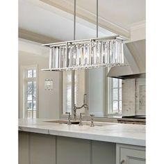 Island light fixtures z lite monarch 5 light island light in brushed nickel Kitchen And Kitchenette, Room Kitchen, Dining Room, Kitchen Decor, Brushed Nickel Chandelier, Billiard Lights, Kitchen Chandelier, Kitchen Island Lighting, Cool Floor Lamps
