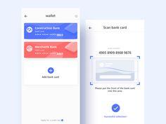 banking card Add Bank Card by Jian Linkedin App, Card Ui, Mobile App Ui, Application Design, Bank Card, Ui Design, How To Apply, Digital