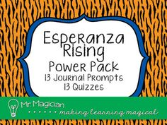 Get the updated novel study resources for Esperanza Rising! Now includes journal prompts, quizzes, vocabulary, and character analysis. 3rd Grade Books, 4th Grade Reading, Esperanza Rising, Classroom Inspiration, Classroom Ideas, Classroom Resources, Read 180, Teaching Reading, Teaching Ideas