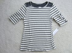 https://www.stitchfix.com/referral/4371189 {I really love this shirt. The buttons on the sleeves, the stripes, the black shoulders.} Stitch Fix Loveappella Canon Button Detail Striped Knit Top