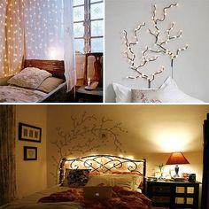 Romantic bedroom lighting.