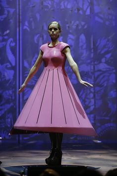 2013 Runner Up to the Brancott Estate WOW Supreme Award winner, and First Place in the #Avant Garde section, Chica Under Glass by Peter Wakeman, NZ.© 2013 World of WearableArt Ltd
