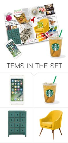 """""""Magazine, Coffee And My Phone"""" by janetvera ❤ liked on Polyvore featuring art, livingroom, homedesign and generalgroups"""