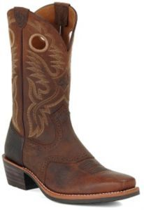 Ariat Heritage Roughstock Men's Brown Oiled Rowdy Square Toe Western Boots | Cavender's