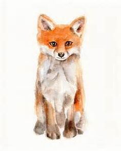 Watercolor Fox - Bing images
