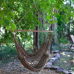 Have to have it. Island Bay Rope Hammock Chair - $59.98 @hayneedle.com