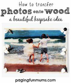 How to transfer photos onto wood a beautiful keepsake idea