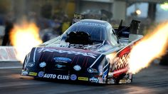Courtney Force raced to the Funny Car qualifying lead Friday at the AAA Texas NHRA FallNationals with a track record performance at Texas Motorplex. Force set both ends of the track record in her Traxxas Ford Mustang with a 4.039-second pass at 314.90 mph.