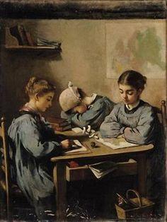 Angele Dubas (1844-?) Dunce's Cap. Musée des Beaux-Arts Andre Malraux, France