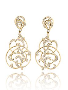 """Pendants d'oreille, collection """"Sevilla"""" - Or rose et diamants Jewelry Art, Jewelry Rings, Jewelry Accessories, Fine Jewelry, Jewelry Design, Jewellery Sketches, Jewelry Sketch, Hanging Earrings, Drop Earrings"""
