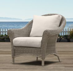 Hampshire Lounge Chair | Chairs | Restoration Hardware. Tom really wants a couple of these mixed with teak in the courtyard - a little too traditional...