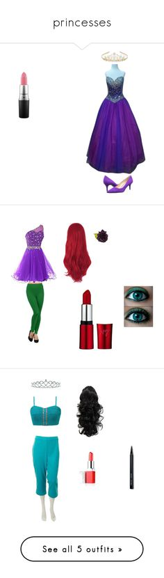 """""""princesses"""" by sunshinekej ❤ liked on Polyvore featuring Impression Bridal, Monsoon, MAC Cosmetics, Nine West, women's clothing, women's fashion, women, female, woman and misses"""
