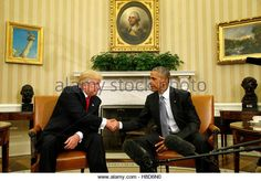 U.S. President Barack Obama meets with President-elect Donald Trump in the Oval Office of the White House in Washington DC. (Stock Photo)  Contributor: REUTERS / Alamy www.alamy.com http://www.alamy.com/stock-photo-us-president-barack-obama-meets-with-president-elect-donald-trump-125680492.html