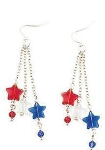 4th of July Earrings by cmariealltiedup on Etsy, $8.00