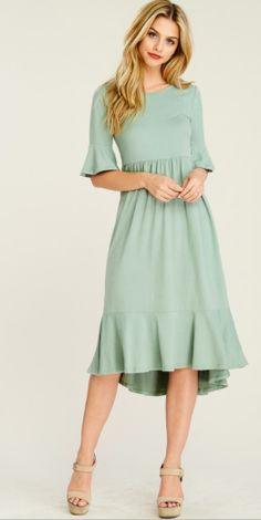 224bb3ea8c1 Sierra flattering sleeve midi dress. Great for Bridesmaids Comes in XLarge